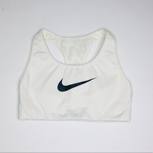 Nike | White Logo Racerback Sports Bra